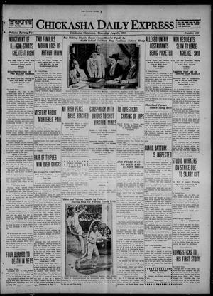 Primary view of Chickasha Daily Express (Chickasha, Okla.), Vol. 22, No. 181, Ed. 1 Thursday, July 21, 1921