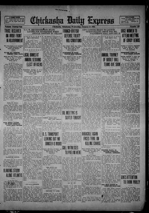 Primary view of object titled 'Chickasha Daily Express (Chickasha, Okla.), Vol. 22, No. 227, Ed. 1 Wednesday, January 11, 1922'.