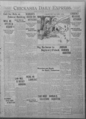Primary view of object titled 'Chickasha Daily Express. (Chickasha, Okla.), Vol. FOURTEEN, No. 154, Ed. 1 Friday, June 27, 1913'.