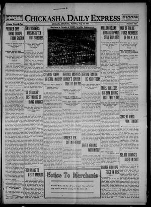 Primary view of object titled 'Chickasha Daily Express (Chickasha, Okla.), Vol. 22, No. 179, Ed. 1 Tuesday, July 19, 1921'.