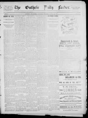 Primary view of object titled 'The Guthrie Daily Leader. (Guthrie, Okla.), Vol. 2, No. 74, Ed. 1, Saturday, March 3, 1894'.