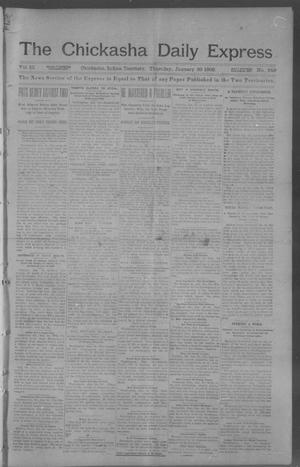 Primary view of object titled 'The Chickasha Daily Express. (Chickasha, Indian Terr.), Vol. 10, No. 349, Ed. 1 Thursday, January 30, 1902'.