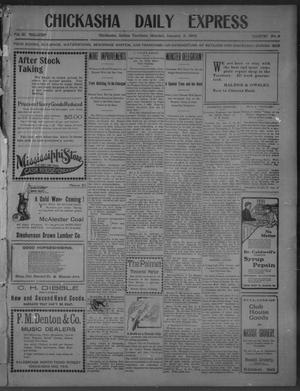 Primary view of object titled 'Chickasha Daily Express (Chickasha, Indian Terr.), Vol. 11, No. 3, Ed. 1 Monday, January 5, 1903'.
