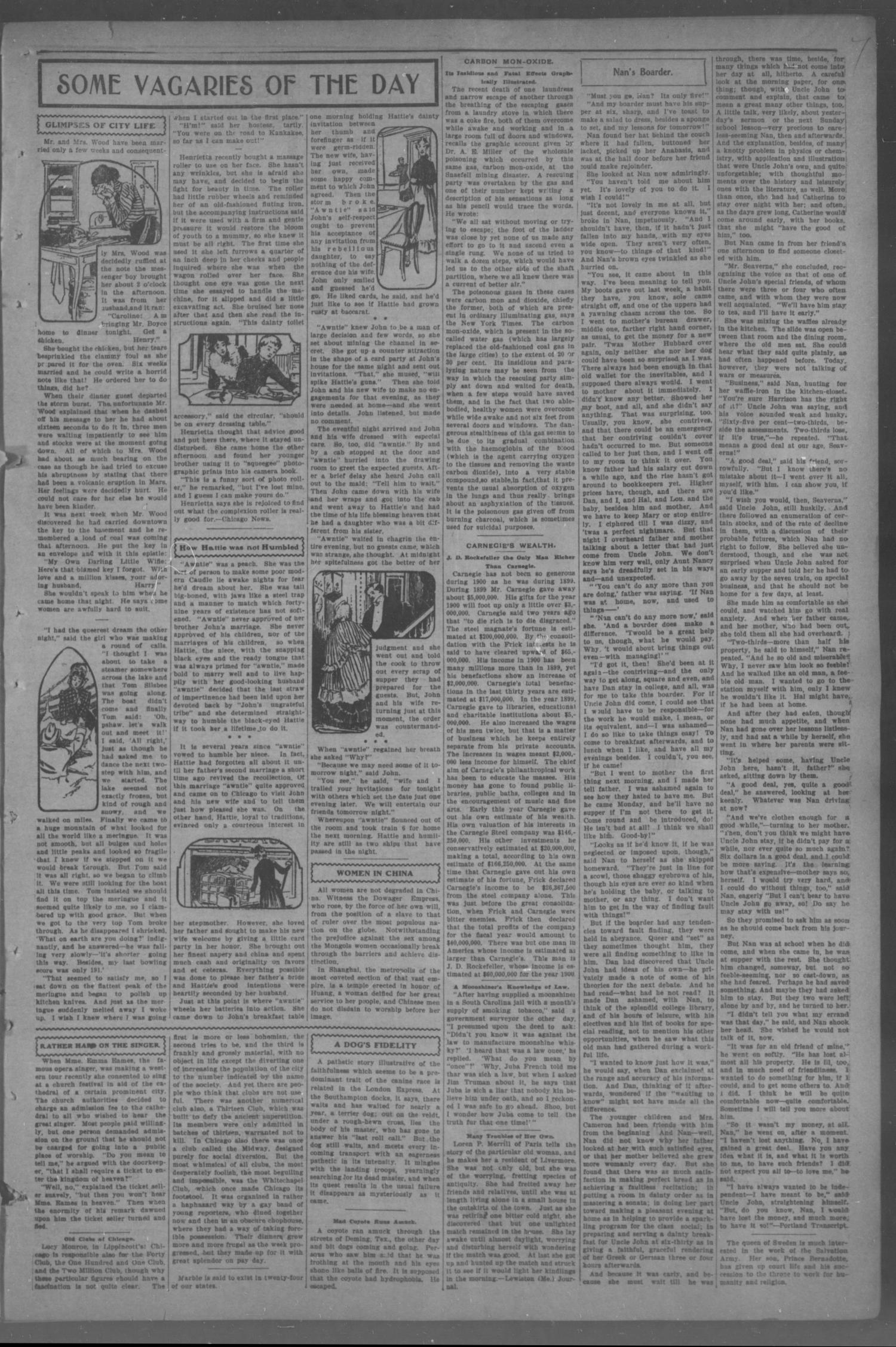 The Chickasha Daily Express (Chickasha, Indian Terr.), Vol. 2, No. 42, Ed. 1 Saturday, February 16, 1901                                                                                                      [Sequence #]: 7 of 8