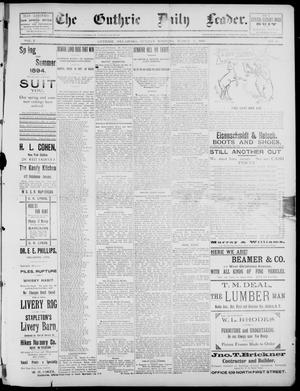 Primary view of object titled 'The Guthrie Daily Leader. (Guthrie, Okla.), Vol. 2, No. 81, Ed. 1, Sunday, March 11, 1894'.