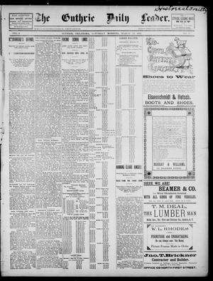 Primary view of object titled 'The Guthrie Daily Leader. (Guthrie, Okla.), Vol. 2, No. 9, Ed. 1, Saturday, March 24, 1894'.
