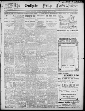 Primary view of object titled 'The Guthrie Daily Leader. (Guthrie, Okla.), Vol. 2, No. 93, Ed. 1, Sunday, March 25, 1894'.