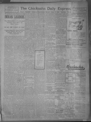 Primary view of object titled 'The Chickasha Daily Express (Chickasha, Indian Terr.), Vol. 10, No. 189, Ed. 1 Monday, August 19, 1901'.