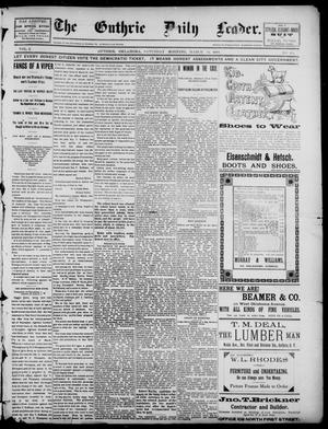 Primary view of object titled 'The Guthrie Daily Leader. (Guthrie, Okla.), Vol. 2, No. 98, Ed. 1, Saturday, March 31, 1894'.