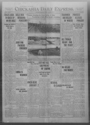 Primary view of object titled 'Chickasha Daily Express. (Chickasha, Okla.), Vol. TWELVE, No. 295, Ed. 1 Tuesday, December 19, 1911'.