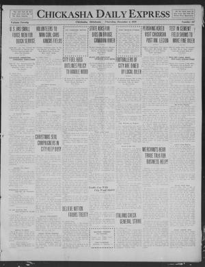Primary view of object titled 'Chickasha Daily Express (Chickasha, Okla.), Vol. 20, No. 287, Ed. 1 Thursday, December 4, 1919'.