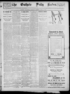 Primary view of object titled 'The Guthrie Daily Leader. (Guthrie, Okla.), Vol. 2, No. 102, Ed. 1, Thursday, April 5, 1894'.