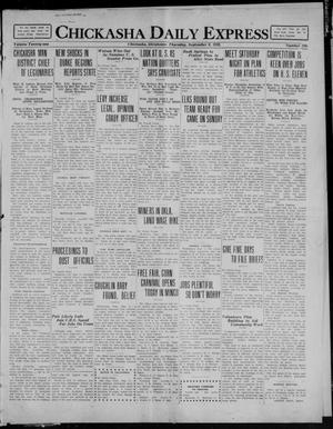 Primary view of object titled 'Chickasha Daily Express (Chickasha, Okla.), Vol. 21, No. 216, Ed. 1 Thursday, September 9, 1920'.