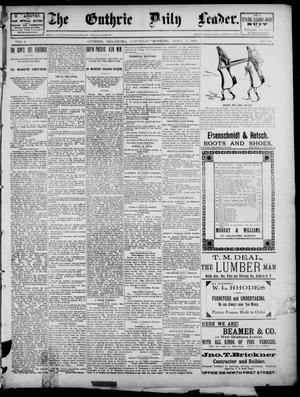 Primary view of object titled 'The Guthrie Daily Leader. (Guthrie, Okla.), Vol. 2, No. 104, Ed. 1, Saturday, April 7, 1894'.
