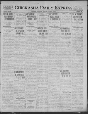Primary view of object titled 'Chickasha Daily Express (Chickasha, Okla.), Vol. 20, No. 296, Ed. 1 Monday, December 15, 1919'.