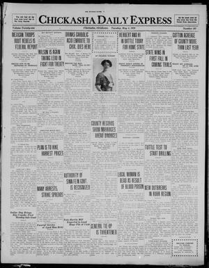 Primary view of object titled 'Chickasha Daily Express (Chickasha, Okla.), Vol. 21, No. 107, Ed. 1 Tuesday, May 4, 1920'.