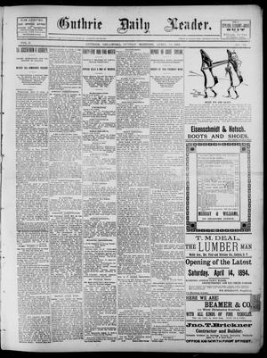 Primary view of object titled 'The Guthrie Daily Leader. (Guthrie, Okla.), Vol. 2, No. 111, Ed. 1, Sunday, April 15, 1894'.