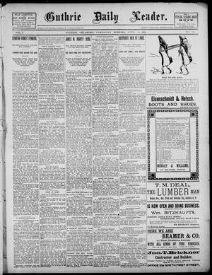 Primary view of object titled 'The Guthrie Daily Leader. (Guthrie, Okla.), Vol. 2, No. 113, Ed. 1, Wednesday, April 18, 1894'.