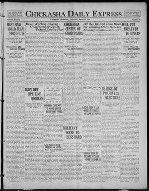 Primary view of object titled 'Chickasha Daily Express (Chickasha, Okla.), Vol. 20, No. 70, Ed. 1 Saturday, March 22, 1919'.