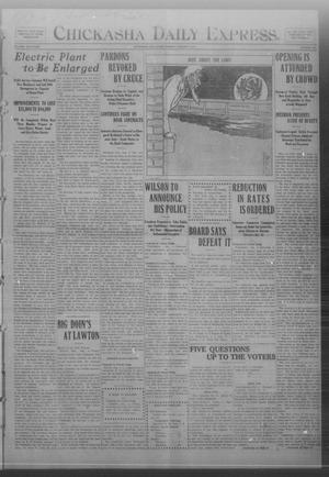 Primary view of object titled 'Chickasha Daily Express. (Chickasha, Okla.), Vol. FOURTEEN, No. 185, Ed. 1 Monday, August 4, 1913'.