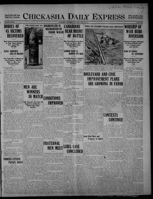 Primary view of object titled 'Chickasha Daily Express (Chickasha, Okla.), Vol. SIXTEEN, No. 98, Ed. 1 Saturday, April 24, 1915'.