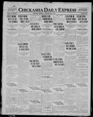 Primary view of object titled 'Chickasha Daily Express (Chickasha, Okla.), Vol. 21, No. 105, Ed. 1 Saturday, May 1, 1920'.