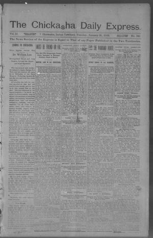 Primary view of object titled 'The Chickasha Daily Express. (Chickasha, Indian Terr.), Vol. 10, No. 341, Ed. 1 Tuesday, January 21, 1902'.