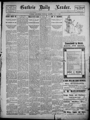 Primary view of object titled 'The Guthrie Daily Leader. (Guthrie, Okla.), Vol. 2, No. 124, Ed. 1, Tuesday, May 1, 1894'.