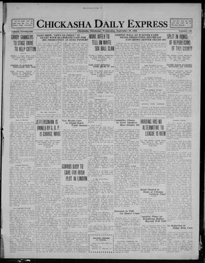 Primary view of object titled 'Chickasha Daily Express (Chickasha, Okla.), Vol. 21, No. 233, Ed. 1 Wednesday, September 29, 1920'.