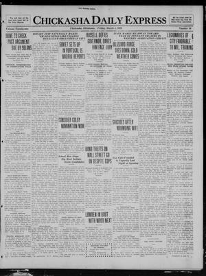 Primary view of object titled 'Chickasha Daily Express (Chickasha, Okla.), Vol. 21, No. 56, Ed. 1 Friday, March 5, 1920'.