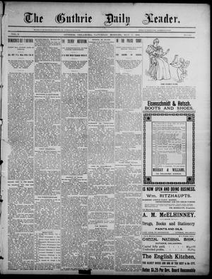 Primary view of object titled 'The Guthrie Daily Leader. (Guthrie, Okla.), Vol. 2, No. 128, Ed. 1, Saturday, May 5, 1894'.