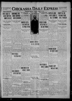 Primary view of Chickasha Daily Express (Chickasha, Okla.), Vol. 22, No. 208, Ed. 1 Monday, August 22, 1921