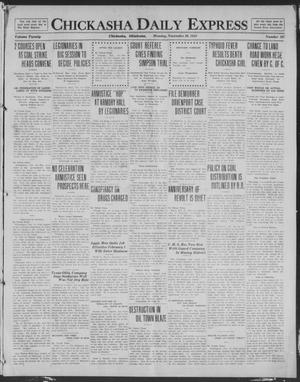 Primary view of object titled 'Chickasha Daily Express (Chickasha, Okla.), Vol. 20, No. 267, Ed. 1 Monday, November 10, 1919'.