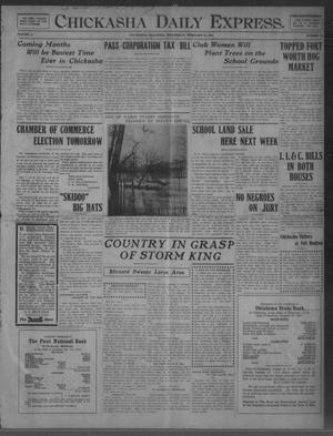 Primary view of object titled 'Chickasha Daily Express. (Chickasha, Okla.), Vol. 11, No. 40, Ed. 1 Wednesday, February 16, 1910'.