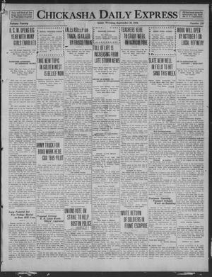 Primary view of object titled 'Chickasha Daily Express (Chickasha, Okla.), Vol. 20, No. 220, Ed. 1 Tuesday, September 16, 1919'.