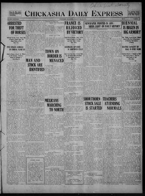 Chickasha Daily Express (Chickasha, Okla.), Vol. SEVENTEEN, No. 123, Ed. 1 Tuesday, May 23, 1916