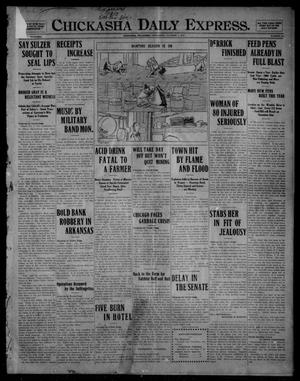 Primary view of object titled 'Chickasha Daily Express. (Chickasha, Okla.), Vol. FOURTEEN, No. 234, Ed. 1 Wednesday, October 1, 1913'.