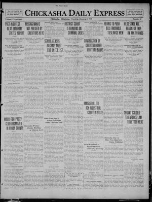 Primary view of object titled 'Chickasha Daily Express (Chickasha, Okla.), Vol. 21, No. 5, Ed. 1 Tuesday, January 6, 1920'.