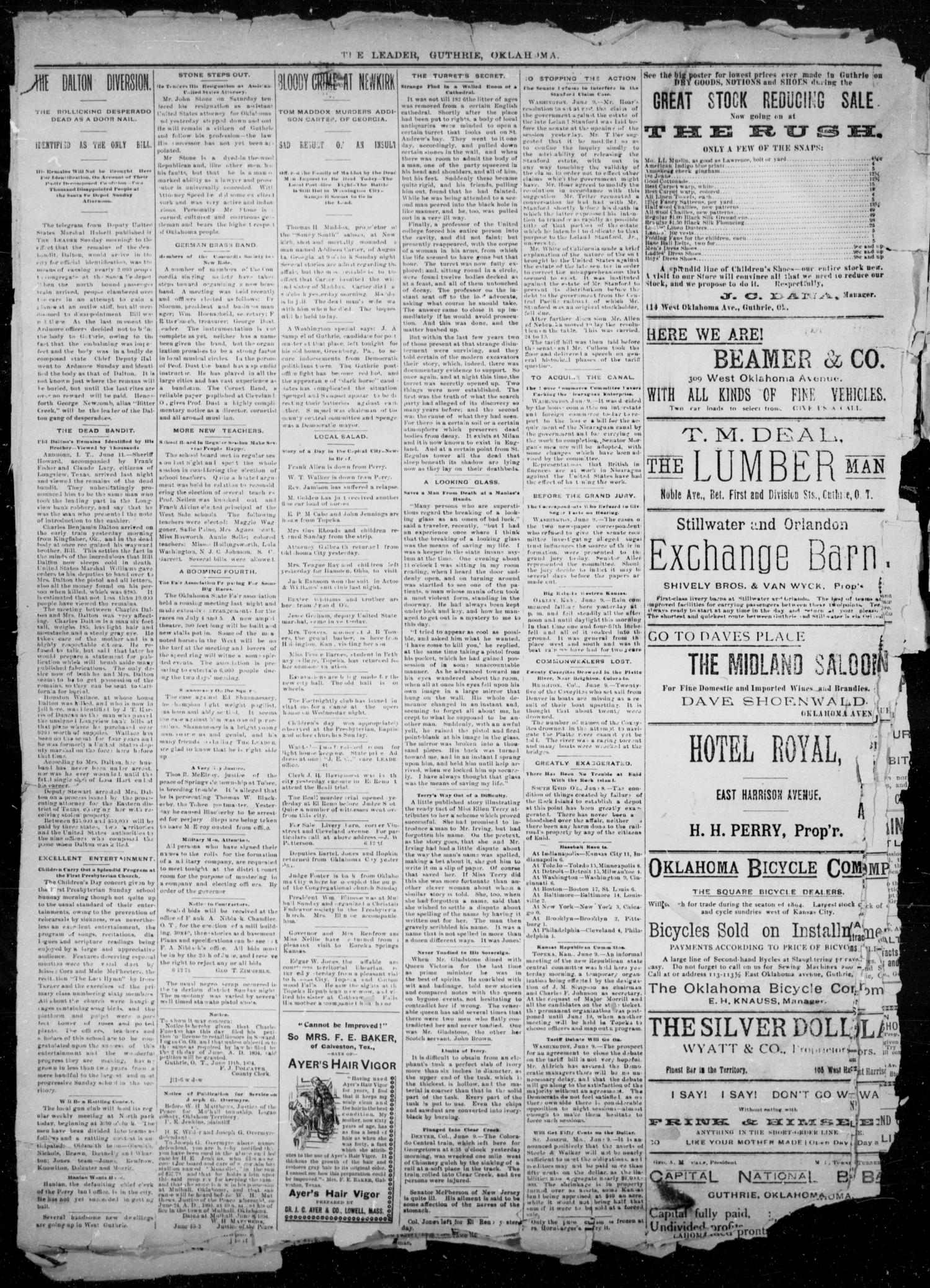 The Guthrie Daily Leader. (Guthrie, Okla.), Vol. 2, No. 161, Ed. 1, Tuesday, June 12, 1894                                                                                                      [Sequence #]: 4 of 4