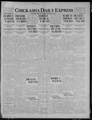Primary view of object titled 'Chickasha Daily Express (Chickasha, Okla.), Vol. 21, No. 208, Ed. 1 Tuesday, December 28, 1920'.