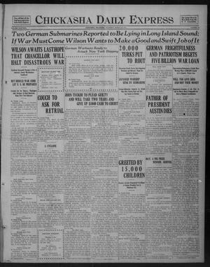 Primary view of Chickasha Daily Express (Chickasha, Okla.), Vol. 18, No. 76, Ed. 1 Thursday, March 29, 1917