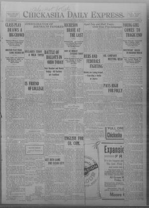 Primary view of object titled 'Chickasha Daily Express. (Chickasha, Okla.), Vol. THIRTEEN, No. 122, Ed. 1 Tuesday, May 21, 1912'.