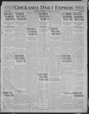 Primary view of object titled 'Chickasha Daily Express (Chickasha, Okla.), Vol. 20, No. 254, Ed. 1 Saturday, October 25, 1919'.