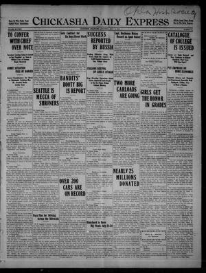 Primary view of object titled 'Chickasha Daily Express (Chickasha, Okla.), Vol. SIXTEEN, No. 193, Ed. 1 Saturday, July 10, 1915'.