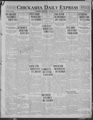 Primary view of object titled 'Chickasha Daily Express (Chickasha, Okla.), Vol. 20, No. 252, Ed. 1 Thursday, October 23, 1919'.
