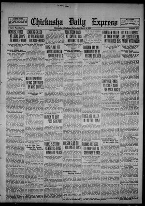 Primary view of object titled 'Chickasha Daily Express (Chickasha, Okla.), Vol. 22, No. 272, Ed. 1 Saturday, March 4, 1922'.