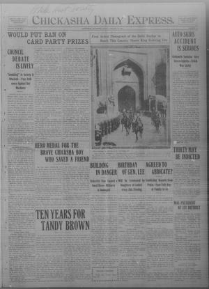 Primary view of object titled 'Chickasha Daily Express. (Chickasha, Okla.), Vol. THIRTEEN, No. 17, Ed. 1 Friday, January 19, 1912'.