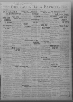 Primary view of object titled 'Chickasha Daily Express. (Chickasha, Okla.), Vol. THIRTEEN, No. 8, Ed. 1 Tuesday, January 9, 1912'.