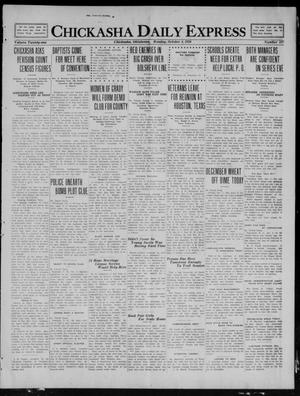 Primary view of object titled 'Chickasha Daily Express (Chickasha, Okla.), Vol. 21, No. 237, Ed. 1 Monday, October 4, 1920'.