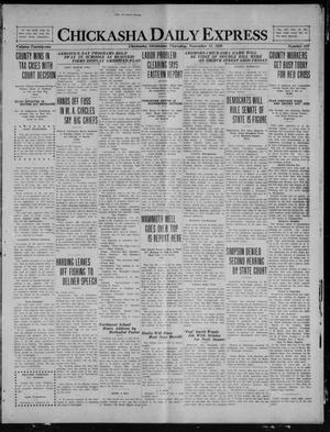 Primary view of object titled 'Chickasha Daily Express (Chickasha, Okla.), Vol. 21, No. 270, Ed. 1 Thursday, November 11, 1920'.
